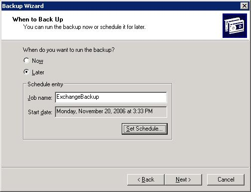 exchange server backup wizard 8