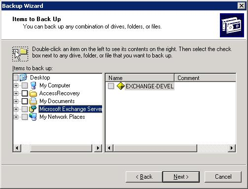 exchange server backup wizard1