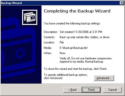 exchange server backup wizard 3