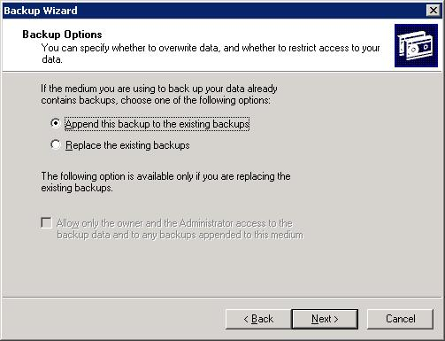 exchange server backup wizard 5