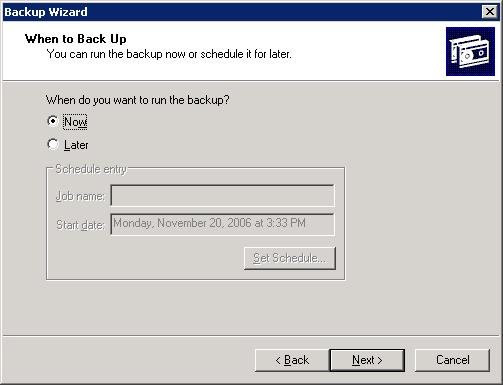 exchange server backup wizard 6