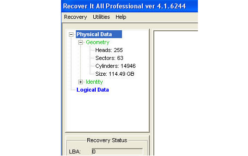 recovery of boot sector