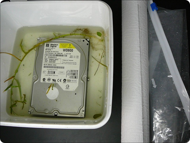 Shipping a water damaged hard drive